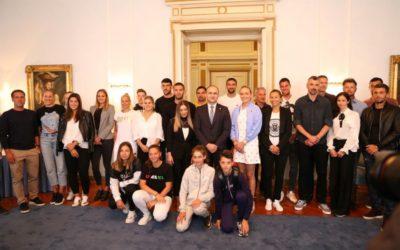 Župan Anušić primio najbolje hrvatske tenisače