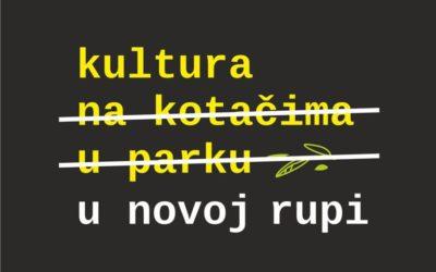 """""""Kultura u novoj rupi"""" – novi projekt Kulturnog centra"""