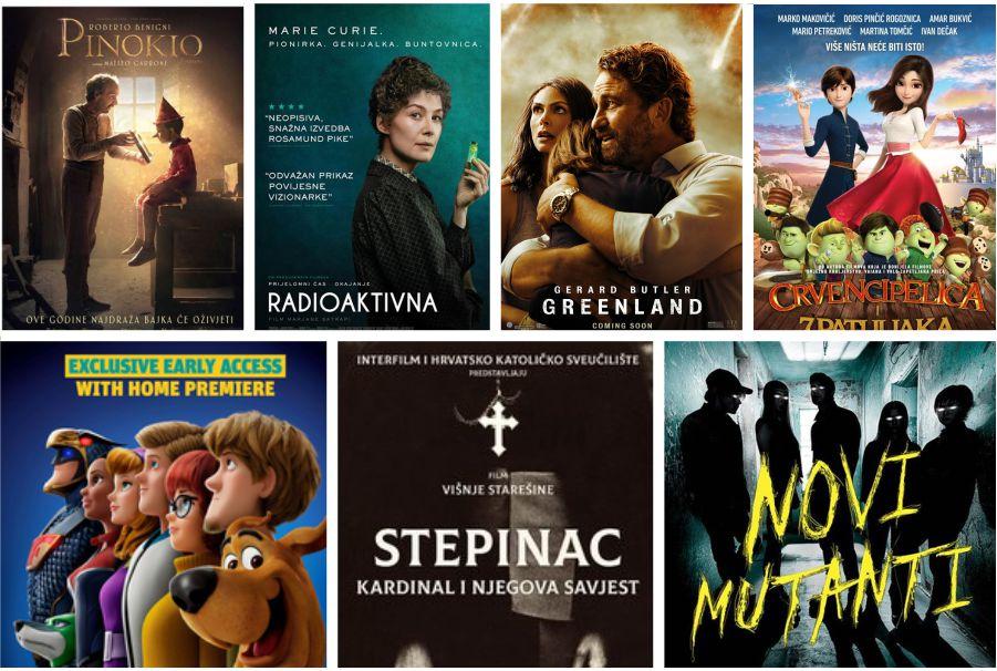 U kinu: Pinokio, Radioaktivna, Greenland: Posljednje utočište, Crvencipelica i 7 patuljaka, Scooby Doo, Stepinac: Kardinal i njegova savjest i Novi mutanti