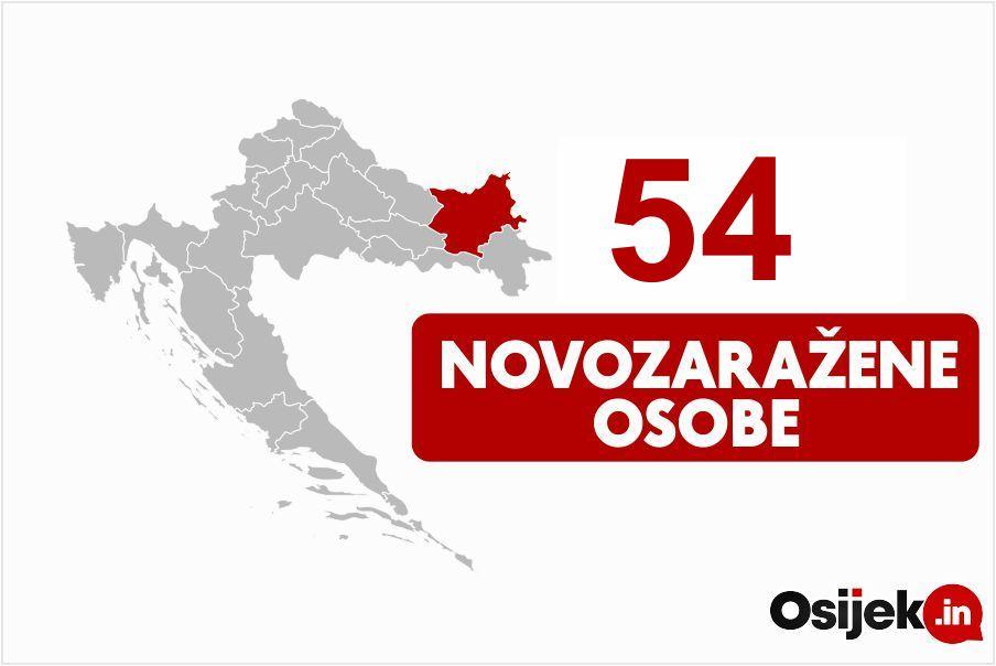 54 novozaražene osobe u našoj županiji