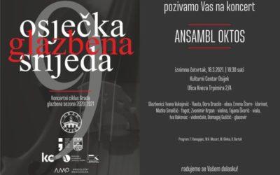 Koncert ansambla Oktos u Kulturnom centru