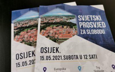 Svjetski prosvjed za slobodu u Osijeku