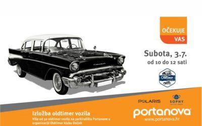 Izložba Oldtimer vozila na parkiralištu Portanove