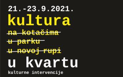 Kultura stiže u osječke kvartove- Kulturne intervencije!